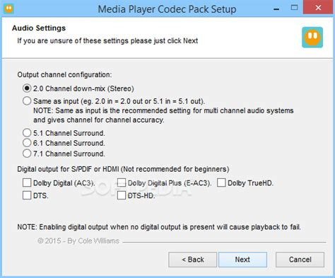 Media player codec pack softpedia 426 free download